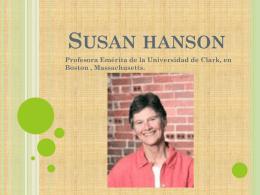 Susan Hanson - Geografía del género