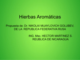 Hierbas aromáticas (Presentación - 1.4Mb)