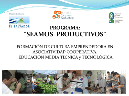 Programa: *SEAMOS PRODUCTIVOS* FORMACIÓN DE