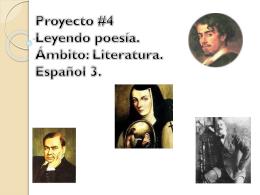 Proyecto # Leyendo poesía. Ámbito: Literatura. Español 3.