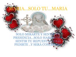 MARIA*SOLO TU*MARIA