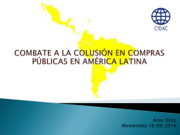 estudio sobre el combate a la colusión en compras públicas en