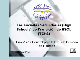 Transitional ESOL High Schools