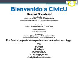 Bienvenido a CivicU