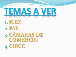 CÁMARAS DE COMERCIO Y CIRCE