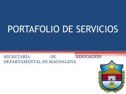 Descargar Portafolio de Servicios SEDMAG