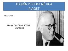 TEORÍA COGNOSCITIVA PIAGET
