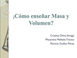 ¿Cómo enseñar Masa y Volumen?