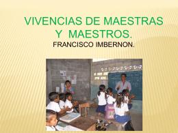 vivencias de maestros y maestras