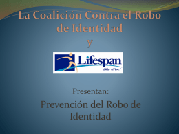 El robo de identidad - National Identity Theft Network
