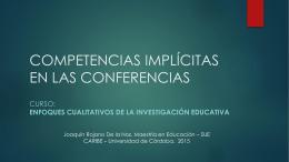 Competencias implícitas en el curso Enfoques Cualitativos de la