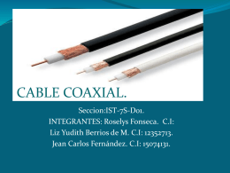 CABLE COAXIAL. - WordPress.com