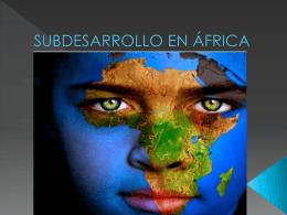 SUBDESARROLLO EN ÁFRICA