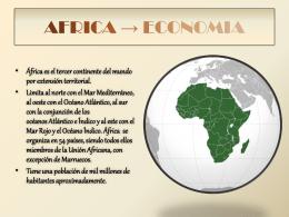 AFRICA → ECONOMIA