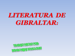 ESCRITORES DE GIBRALTAR
