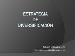 Estrategia de diversificación - direccio-cat