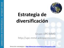 Estrategia de diversificacion - UPC-MMD