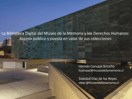 Diapositiva 1 - Centro de Documentación del Museo de la Memoria