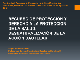 Recurso de protección y derecho a la protección