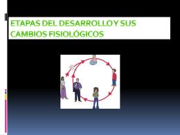 ETAPAS DEL DESARROLLO Y SUS CAMBIOS