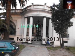 Reuniones coordinadas con Prof. Elisa Piani y Prof. Cristina Alegre