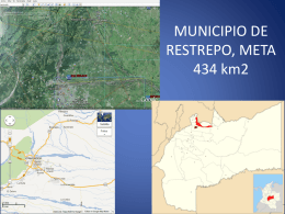 Municipio de Restrepo, Meta, 434 Km2