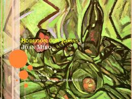 Bodegon con Rosas Joan Miro