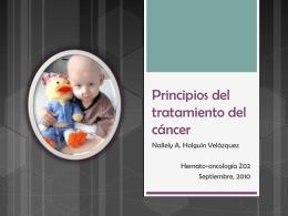 Principios del tratamiento del cáncer