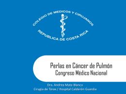 Perlas en Cáncer de Pulmón - Colegio de Médicos y Cirujanos de