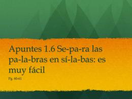 1 apuntes 1.6 - LexSpanish1-2