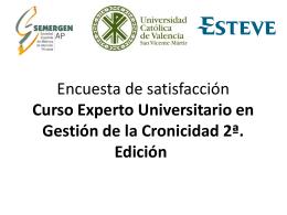 Encuesta de satisfacción Curso Experto Universitario