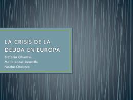 La crisis de la deuda en Europa. Trabajo del