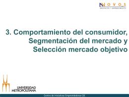 3. Comportamiento del consumidor, Segmentación del mercado y