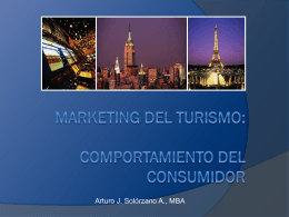 Marketing del Turismo - Comportamiento del Consumidor