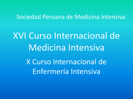 Diapositiva 1 - Sociedad Peruana de Medicina Intensiva