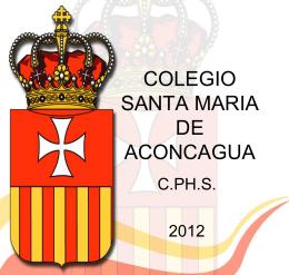 Plan Evacuación 2012 - Colegio Santa María de Aconcagua