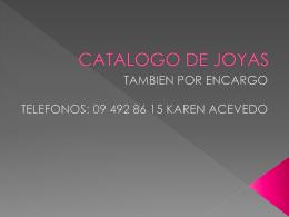 CATALOGO DE JOYAS ACERO