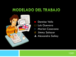 grupo 6 – modelado de trabajo