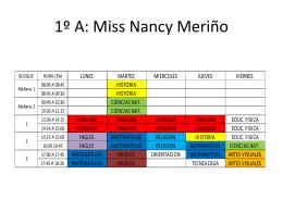 5ºA: Miss Tesalia Carús