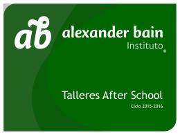 Costo - Instituto Alexander Bain