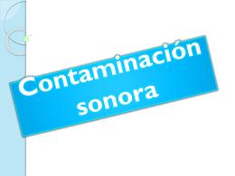 prot.ambiental.Contaminación sonora