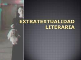 Extratextualidad literaria.