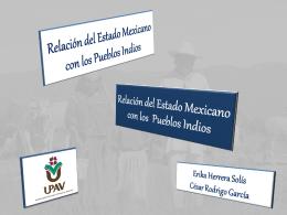 Relación del Estado Mexicano con los Indios