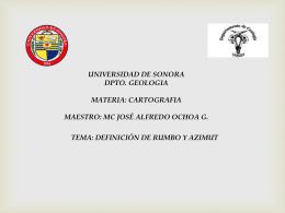 RUMBO Y AZIMUT - Universidad de Sonora