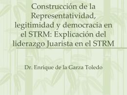 Construcción de la Representatividad, legitimidad y democracia en
