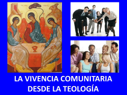 la vivencia comunitaria desde la teología