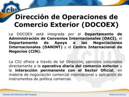 Dirección de Operaciones de Comercio Exterior (DOCOEX)