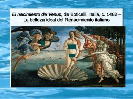 El nacimiento de Venus, de Boticelli,