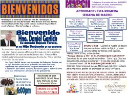 March 1 2015 Bulletin - Iglesia Bautista Puerta La Hermosa