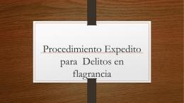 Delitos de flagrancia - Colegio de Abogados de Honduras